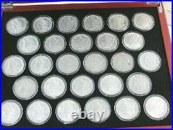 Complete Morgan Silver Dollar Date Set 28 Different Morgans 1878-1921 Q1K4
