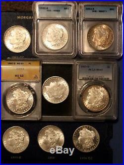 Complete Morgan Silver Dollar Set VERY High Grade