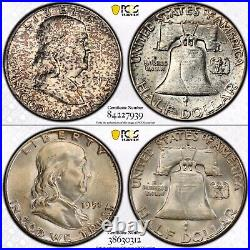 Complete PCGS Set Franklin Silver Half Dollars 35 Coins 1948 1963 Uncirculated