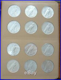 Complete Peace Silver Dollar Set 1921-1935. Ch/gem Bu