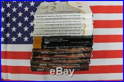 Complete Presidential Dollar 2007 2016 S Proof set Boxed with COA's 39 coins