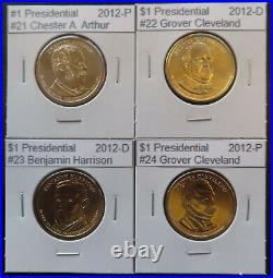 Complete Presidential Dollar 39 BU Coin Set One Each 2007 2016 in Labeled Flips