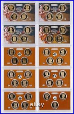 Complete Presidential dollar 2007 2016 S Proof set (each president) 39 coins