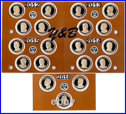 Complete Presidential dollar 2012 2016 S Proof set (each president) 19 coins