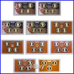 Complete Proof Presidential Dollar Set 2007 2016 S Proof 39 coin Set