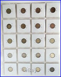 Complete Roosevelt Dime Set 1946-2017 Silver & Clad Circ. To Gem BU (155 Coins)