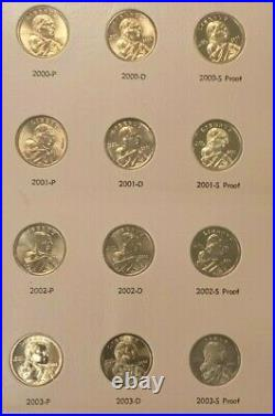 Complete Sacagawea Dollar Set 2000-2015 BU/Proof Dansco Album 48 coins K801