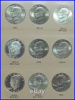 Complete Set 1971-1978 Eisenhower Ike Dollar US Coin Uncirculated & Proof Toning