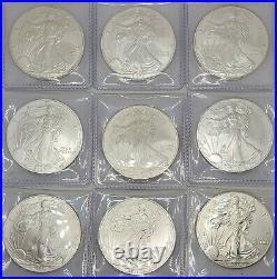Complete Set 1986-2021 Silver Eagles BRILLIANT UNCIRCULATED