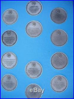 Complete Set 36 Pewter DAR Medal s With COA. Great Women of American Revolution