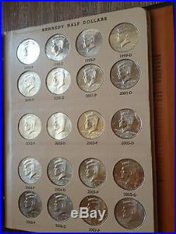 Complete Set Dansco Kennedy Half Dollar 1964 2015 P & D Collection 96 Halves