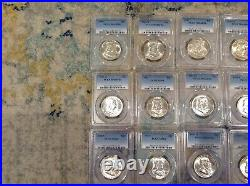 Complete Set Franklin Half Dollars PCGS MS64 -18 with Full Bell Lines (FBL) B11