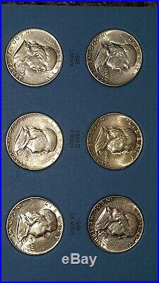 Complete Set MS Franklin Half Dollar 1948-1963 in Album