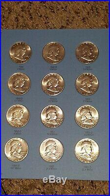 Complete Set MS Franklin Half Dollar 1948-1963 in Album B