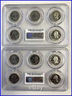 Complete Set Of 1999-2008 Pcgs Pr69dcam Clad State Quarters (50 Different Coins)