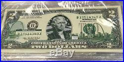 Complete Set Of 2003-A US $2 50 State Colorized Bills Landmark Uncirculated