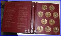 Complete Set Of (30) Solid Bronze Wwii Medal Series In Binder