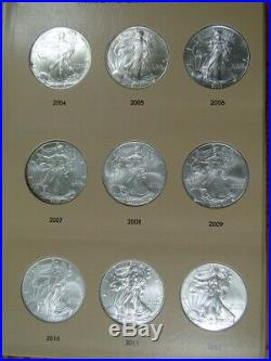 Complete Set Of 34 Uncirculated American Silver Eagles 1986 2019