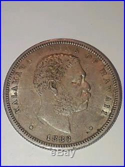 Complete Set Of Hawaii Coins 1847 1883 Penny Dime Quarter Half & Dollar RARE