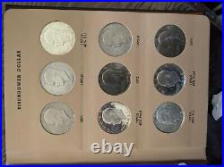 Complete Set Uncirculated PDS Proofs & Silver Proof 1971-1978 Eisenhower Dollars