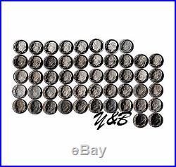 Complete Set of 1968 2017 US S Clad Proof Roosevelt Dimes (50 Coins Lot) Dime
