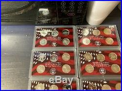 Complete Set of 1999-2008 U. S. 90% SILVER PROOF State Quarters 50 coins BU