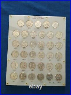 Complete Set of 35 GEM Uncirculated Franklin Half Dollars 1948-1963 in Capital P