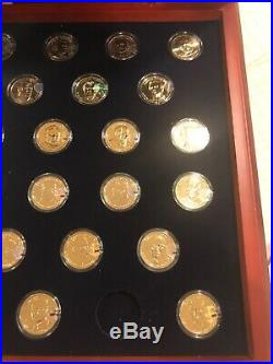 Complete Set of 39 Presidential Gold Plated $1 Coins With Case with 2 bonus coin