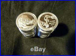 Complete Set of 50 S 90% Silver American Parks Quarters 2010 2019