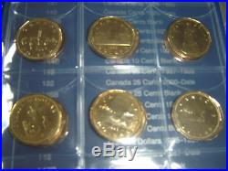 Complete Set of Canada Dollars Coins (1968-10) 46 Coins