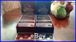 Complete Set of Denver and Philadelphia Mint Commemorative Quarters