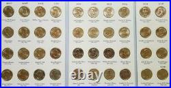 Complete Set of Presidential One Dollar Coins in Album 2007 2016 & 2020