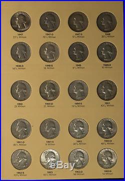 Complete Silver Washington Quarter Set -+12 Clad Coins AG-Uncirculated