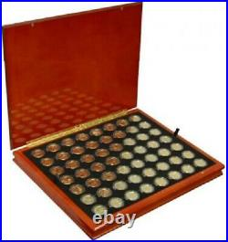 Complete State Quarter Set Gold Plated in Box, Complete Set of 56