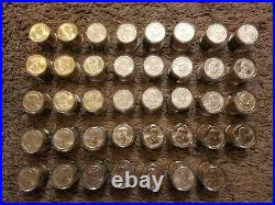 Complete Uncirculated Presidential Dollar Set, Rolls of 12 coins each