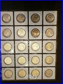 Complete Uncirculated+ Set of Ben Franklin Silver Half Dollars 35 Coins1948-1963