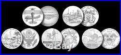 Complete World War I Centennial 2018 Silver Dollar & Medal Collection/All 5 Sets