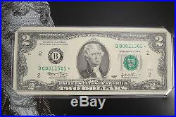 Complete set 12 Reserve Banks 2003 $2 Single Star Notes Low Serial numbers