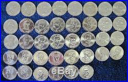 Complete set 2007- 2016 P & D President Dollar in Coin Tubes 78 Unc Bu Coins