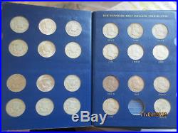 Complete set Silver Franklin Half dollars a few are uncirculated nice set deluxe