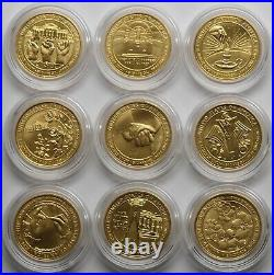 Complete set of First Spouse uncirculated gold coins