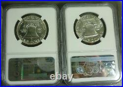 Complete set of Proof Franklin Half Dollars 1950-1963 all NGC PF67
