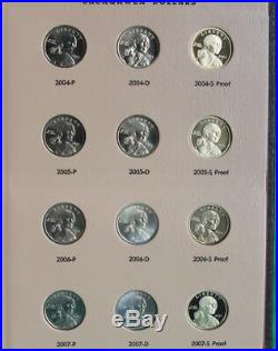 Dansco Album Sacagawea SAC 60 coin set $1 Complete PD & Proof Collection 2000-19