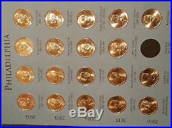 Deluxe Folder 2007-2016 Presidential $1 P&D Complete Uncirculated 78 Coin Set