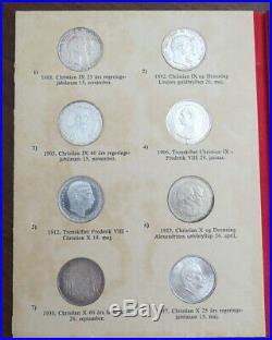 Denmark Complete Set Of Silver Commemoratives In Album Very Attractive Set