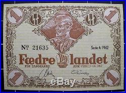 Denmark WW2 DNSAP banknotes/COMPLETE SET-1942-UNC-Xrare-Danish Legion-Free Corps