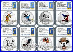 Disney Mickey Through The Ages Complete Set Ngc Pf70 First Day Of Issue