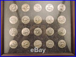 Ducks Unlimited Silver Medal Complete Set of 20 by Larry Toschik