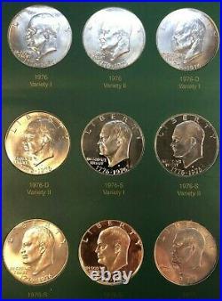 Eisenhower Dollar Complete BU & Proof Set in Coin Collector Album