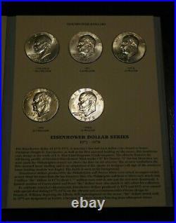 Eisenhower Dollars 1971-1978 Susan B. Anthony Dollars 1979-1999 Complete BU Set